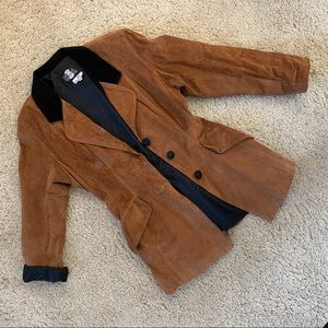 Vintage brown and black suede riding jacket